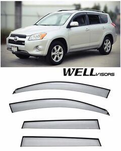 For 06 12 Toyota Rav4 Wellvisors Side Window Visors W Black Trim