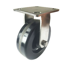 5 X 2 Heavy Duty Stainless Steel phenolic Caster Rigid