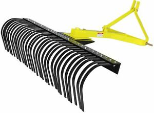 Titan Attachments 6 Landscape Rake For Compact Tractors Tow behind Garden Tool