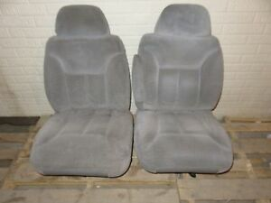 95 96 97 98 99 Tahoe Yukon Silverado Sierra Seats Mix Match Grey Front Bucket