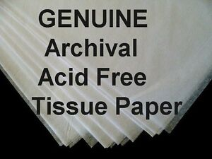 25 Sheets Acid Free White Tissue Paper Unbuffered Lg 20 X 30 Free Shipping