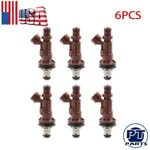 New Set Of 6 Fuel Injectors 23250 62040 For Toyota Tacoma Tundra 4runner 3 4l V6