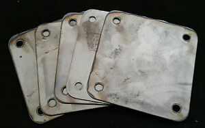 Lot Of 10 4 X 4 Inch Square Flange Plate Plates Custom Steel Mounting Cover