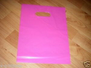 Lot Of 1000 9 X 12 Pink Glossy Low density Plastic Merchandise Bags Gift Bags