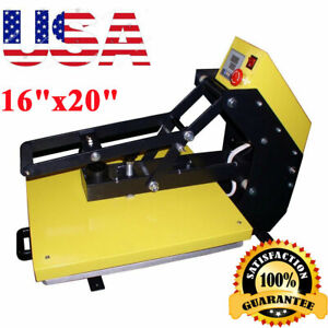 Usa Stock 16 x20 110v Auto Open T shirt Transfer Heat Press Machine slide Out