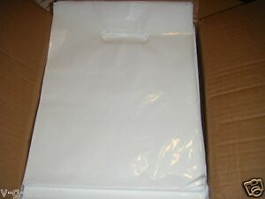 Lot Of 1000 9 X 12 White Glossy Low density Plastic Merchandise Bags Gift Bags