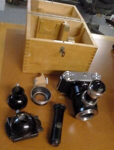 Vintage Carl Zeiss Microscope Film Camera Germany With Box