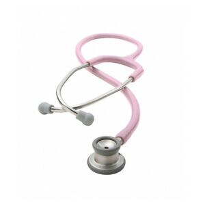 Adc 605p Adscope Stethoscope Pink With Combination Infant Chestpiece Id Tag
