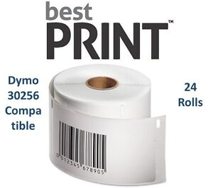 24 Rolls Of 300 Labels 2 5 16 X 4 For Dymo Labelwriter 30256 Compatible