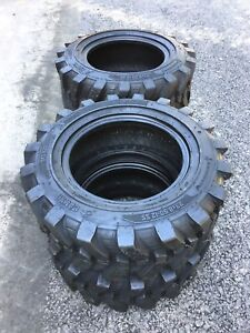 4 23x8 5 12 Skid Steer Tires 6 Ply 23x8 50 12 for Bobcat case new Holland More