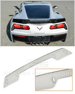 Z06 Z07 Stage 3 Style Light Tinted Rear Spoiler Wickerbill For 14 up Corvette C7