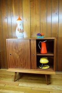 Vtg Mcm 1950 S Walnut Cabinet By Paul Mccobb For Calvin Linear Adjustable Shelf