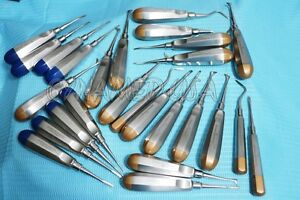 German 25 Dental Elevators Extraction Surgical Instruments All In One A Qulty
