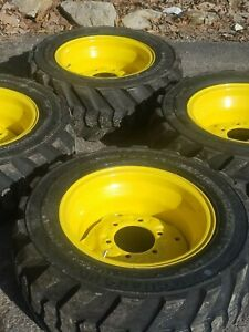 27x10 50 15 Skid Steer Tires wheels 27x10 5 15 For Bobcat More 8ply