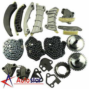 Timing Chain Kit For 07 09 Buick Cadillac Cts Srx Sts Suzuki Saab 3 6l Dohc 24v
