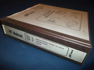 Bobcat Rotary Cutter Concrete Mixer Grader Service Shop Repair Manual Book