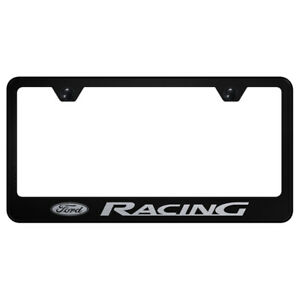 Ford Racing Laser Etched On Black License Plate Frame Officially Licensed