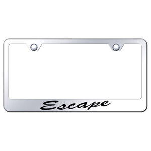 Script Name On Stainless Steel License Plate Frame For Ford Escape