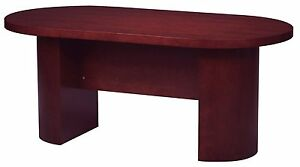 local Pickup Special Gof 6 Wood Veneer Conference Table Mahogany Color 72 w