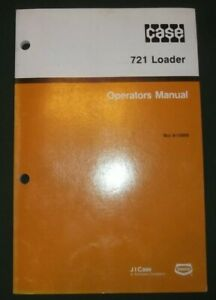 Case 721 Wheel Loader Operator Operation Maintenance Book Manual Oem