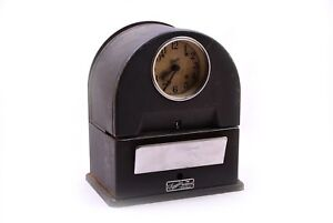 Vintage Simplex Time Recorder Clock Antique Time Card Punch
