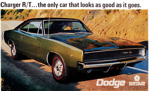 1968 Dodge Charger R t Promotional Advertising Poster