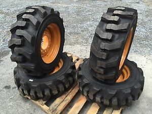 10 16 5 Foam Filled Ultra Guard Skid Steer Tires wheels rims For Case 10x16 5
