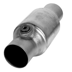 Ap Exhaust 608395 Universal Catalytic Converter Spun 2 25 In Out W O2 Obdii