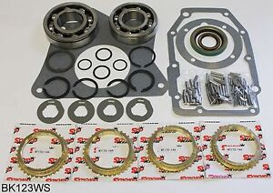 Jeep T176 4 Speed Transmission Bearing Kit With Synchro Rings Bk123ws