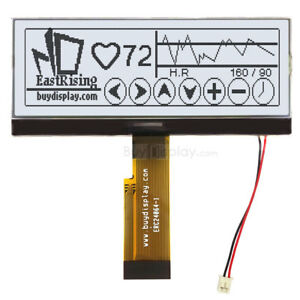 4 3 white 240x64 Graphic Lcd Module Display parallel spi Serial W tutorial