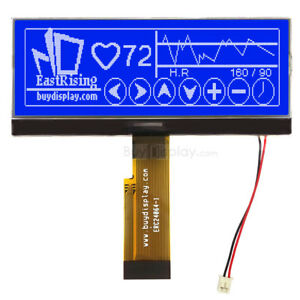 4 3 blue 240x64 Graphic Lcd Module Display parallel spi Serial W tutorial