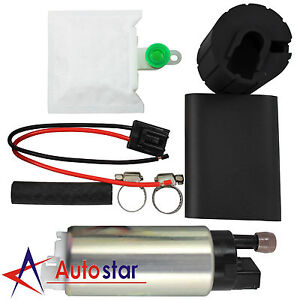 New Universal 255lph High Performance Fuel Pump With Install Kit Gss341
