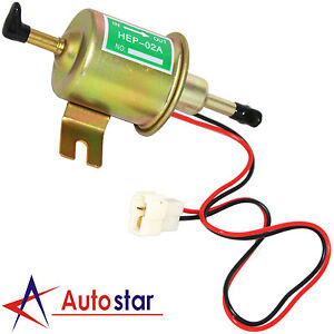 New Universal 12v Gas Diesel Electric Fuel Pump Inline Low Pressure Hep 02a