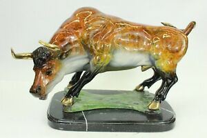 Collector Numbered Edition Bull Boro Spanish Spain Bronze Sculpture Figure
