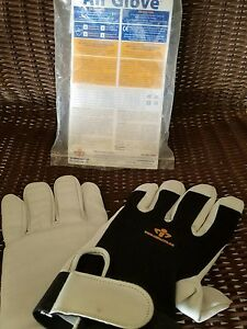 Mens Glove Anti Vibration Impacto Large Black white One Pair Construct Work