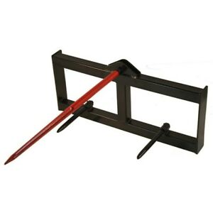 39 Tractor Hay Spear Attachment 3 000 Lb Spike Skid Steer Quick Tach Bobcat