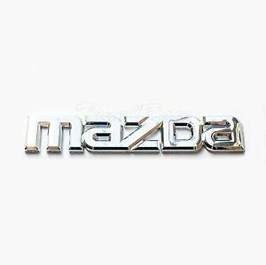 For Mazda Logo Chrome Emblem Sticker Decal Mazda 3 6 Miata Rx7 Rx8 Mx5