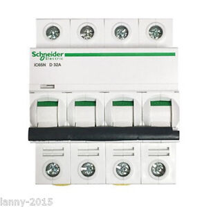 1pc New Schneider Breaker Air Switch Power D series Acti9 Ic65n 4pd63a 10a 4p4