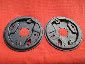 Pair Of Original Oem Reconditioned Rear Drum Brake Backing Plates Mgb And Mgb gt