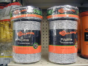 Gallagher Polywire 2 Rolls Combo Roll 1320ft Plus 300ft Free