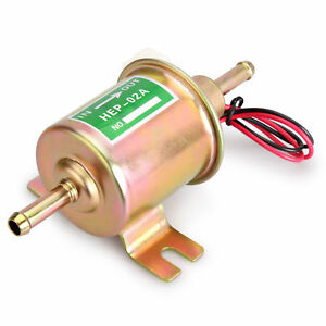 New Universal 12v Electric Fuel Pump Inline Diesel Petrol Low Pressure Hep 02a