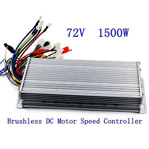 72v 1500w Electric Bicycle E bike Scooter Brushless Dc Motor Speed Controller