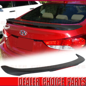For 2011 2016 Hyundai Elantra 4dr Matte Black Factory Style Spoiler Wing W Led