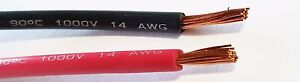 14 Gauge Wire Red Black 50 Ft Each Primary Awg Stranded Copper Power Remote