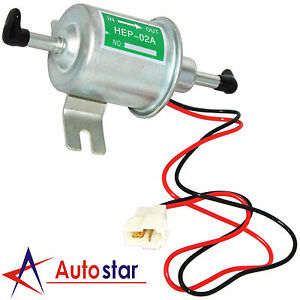 New 12v Electric Diesel Petrol Fuel Pump Low Pressure Bolt Fixing Wire Hep 02a