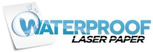 Waterproof Laser Paper Glossy Permanent Label W liner 25 Sheets