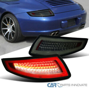 2005 2008 Porsche 911 997 Gt3 Gt2 Turbo Carrera Targa Smoke Lens Led Tail Lights