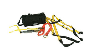 Msa 10092169 Fall Protection Kit Includes Xl Harness Lanyard Anchor