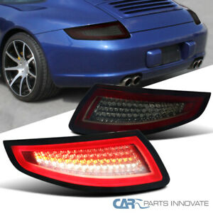 05 08 Porsche 911 997 Gt3 Gt2 Turbo Carrera Targa Red Smoke Lens Led Tail Lights