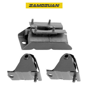 Engine Motor Trans Mount 3pcs 87 99 For Jeep Cherokee Comanche Wagoneer 4 0l